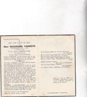 H.VANHOVE °RUISELEDE 1882 +IZEGEM 1958 (M.DOBBELAERE-J.VAN ROBAYS) - Images Religieuses