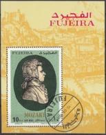 FUJEIRA - 1971 - Foglietto Timbrato FDC E Dentellato, Dedicato A W.A. Mozart. - Fujeira