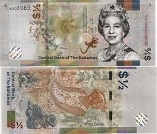 BAHAMAS      ½ Dollar (50 Cents)       P-New       2019       UNC - Bahama's