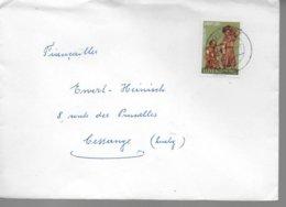 LUXEMBOURG Lettre 1972 Statuettes En Bois Creche De L Eglise De Beaufort - Christentum