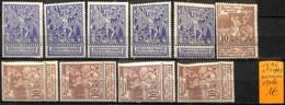 [835447]TB//*/Mh-Belgique 1896 - N° 71+73, Nuances, Exposition - 1894-1896 Exhibitions