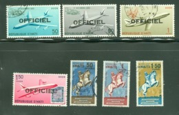 Officiel. Haïti; Timbres Scott Stamps # CO-2 - CO-8; Usagés / Used. (8197-A) - Haiti