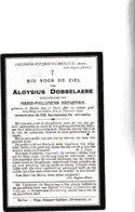 A.DOBBELAERE °EEKLO 1866 +1922 (M.HAEGEMAN) - Images Religieuses