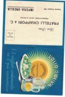 CARTOLINA POSTALE CARTE POSTALE OLIO DI OLIVA FRATELLI CHIAPPORI ONEGLIA - Pubblicitari