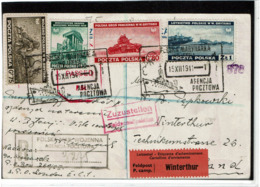 LCTN57PM- POLOGNE GOUVERNEMENT DE LONDRES 2 CP AFFRANCHIES - 1939-44: 2. WK
