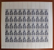 Feuille De 50 Timbres FRANCE 1947 - YT N° 773 ** -  Basilique Notre-Dame Du Port à Clermont-Ferrand - 3f + 2f - Feuilles Complètes