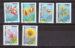 France Préoblitérés 253/258 Fleurs Neuf ** Mnh Sin Charnela Cote 18 - 1989-....