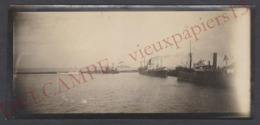 Petite Photo Panoramique C.1930 Port De Dakar Bateaux Vapeur Paquebots - 13,5x6,5 Cm. Sénégal Afrique Marine - Bateaux