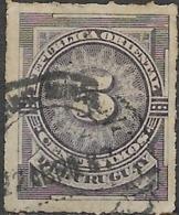URUGUAY 1884 Numeral - 5c - Lilac FU - Uruguay