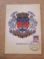 France, Carte Premier Jour Bordeaux 1958 - FDC
