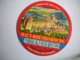 étiquette Fromage Alsace Variante Haut-Koenigsbourg Export Laiterie Centrale Château Forteresse Histoire Patrimoine - Cheese