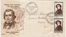LCTN57PM- FRANCE FDC DE LA CROIX 2/6/1951 COTE EUR 125.00 - FDC