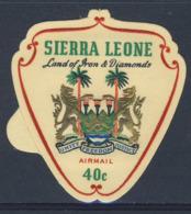 Sierra Leone 1965 Mi 349 SG 384 Airmail ** Coat Of Arms Of Sierra Leone / Wappen / Armoiries / Wapenschild - Postzegels
