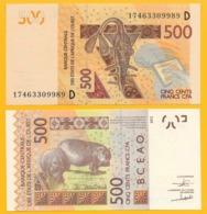 West African States 500 Francs Mali (D) P-419D 2017 UNC Banknote - États D'Afrique De L'Ouest