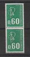 Bequet 0.60 Verte 1815a,b Avec N° Decalé  ** MNH - Variétés Et Curiosités