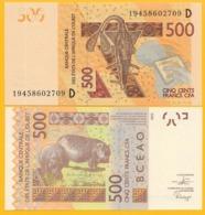 West African States 500 Francs Mali (D) P-419D 2019 UNC Banknote - West-Afrikaanse Staten