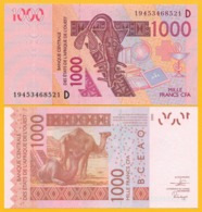 West African States 1000 Francs Mali (D) P-415D 2019 UNC Banknote - West-Afrikaanse Staten