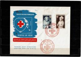 LCTN57PM- FRANCE FDC CROIX ROUGE FRANCAISE 15/12/1951 COTE EUR 50.00 - FDC