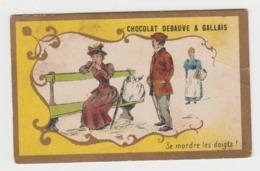 AB032 - CHROMO CHOCOLAT DEBAUVE & GALLAIS - Se Mordre Les Doigts ! - Chocolat
