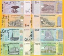 Yemen Set 100, 200, 500, 1000 Rials 2017-2019 UNC Banknotes - Jemen