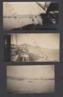 3 Petites Photos Anciennes C.1930 Canaries - Las Palmas - Bateaux Vapeur Paquebots - Espagne Gran Canaria - Marine - Bateaux