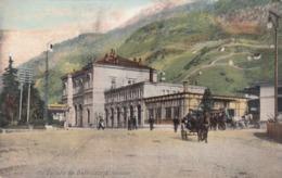 SWITZERLAND-SCHWEIZ-SUISSE-SVIZZERA-UN SALUTO DA BELLINZONA(STAZIONE)-CARTOLINA VIAGGIATA IL 12-12-1906 - TI Tessin