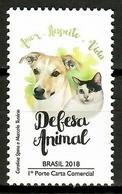 Brazil 2018 Brasil / Dog Cat MNH Perro Gato Hunde Katzen Chien Chats / Cu13634  29-16 - Perros