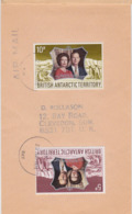 British AntarcticTerritory Polar Philately Air Mail Cover 1974 To Clevendon Timbre Lettre Antarctique Philatélie Polaire - Cartas