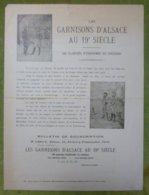 Annonce Souscription Du Livre LES GARNISONS D'ALSACE AU 19e SIECLE - Historical Documents