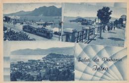 INTRA-VERBANIA-VERBANO CUSIO OSSOLA-SALUTI DA-MULTIVEDUTE(3 IMMAGINI)-CARTOLINA VIAGGIATA IL 13-8-1948 - Verbania