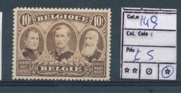 BELGIAN CONGO COB 149 LH - 1915-1920 Albert I
