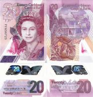 EAST CARIBBEAN STATES       20 Dollars       P-New        ND (2019)      UNC - Oostelijke Caraïben
