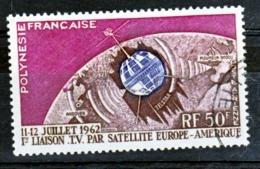 Polynésie PA   6 Satellite Communications  Oblitéré Used Cote 9.5 - Poste Aérienne
