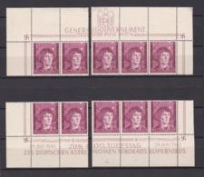 Generalgouvernement - 1943 - Michel 104 - Bogenteile - Postfrisch - Besetzungen 1938-45