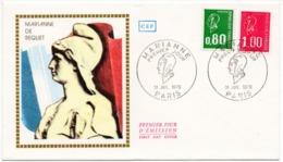 FDC France 1976 - Marianne De Bequet - 0,80 F Vert Et 1,00 F Rouge - YT 1891 & 1892 - Paris - FDC