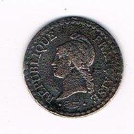 //  FRANKRIJK 1 CENTIME 1848 A - A. 1 Centime