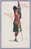 CARTOLINA - A CALL TO ARMS! - STICK TO ME AND THE FLAG - Militari