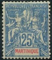 Martinique (1900) N 47 * (charniere) - Martinique (1886-1947)