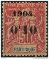 Martinique (1904) N 56 * (charniere) - Martinique (1886-1947)