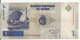 CONGO 1 FRANC 1997 VF P 85 - Congo