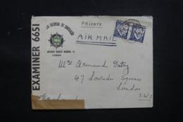 PORTUGAL - Enveloppe Commerciale De Lisbonne Pour Londres En 1943 Avec Contrôle Postal - L 43461 - Lettres & Documents