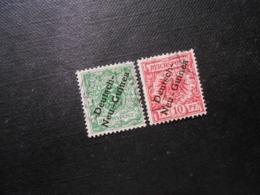 D.R.Mi 2/3a  5/10Pf -  Deutsche Kolonien (Neuguinea) - 1897 - Mi 16,00 € - Zähnungsschaden - Colonie: Nouvelle Guinée