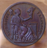 Jeton De Présence Comité Provisoire De Lyon 1848 - Professionnels / De Société