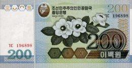 Korea North 200 Won 2005 Pick 48 UNC - Korea, North