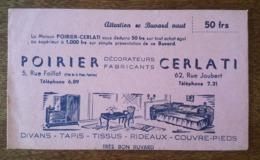 Buvard Coupon De Réduction - Auxerre, Maison Poirier & Cerlati, Décorateurs Fabricants, Divans, Tapis, Rideaux, Tissus.. - Blotters