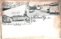 Remilly - Eglise Et Ecole  Schule U. Kirchei - Francia