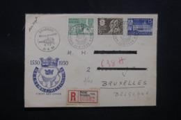 FINLANDE - Enveloppe Par Hélicoptère En 1950 En Recommandé, Affranchissement Et Cachets Plaisants - L 43468 - Finland