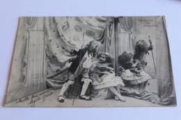 Enfants Marquise Et Chevalier  Dos Non Divise - Cartes Humoristiques