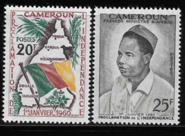 Cameroun Cameroon 1960 Declaration Of Independence Map Flag MNH - Cameroon (1960-...)