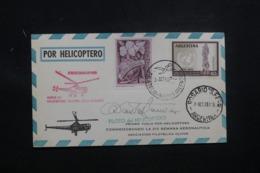 ARGENTINE- Carte Postale Par Hélicoptère En 1959 Affranchissement Plaisant, Signature Du Pilote - L 43472 - Argentinien